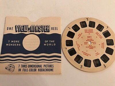 View Master Reel ALICE SPRINGS NORTHERN TERRITORY AUSTRALIA 1955 Sawyers 331