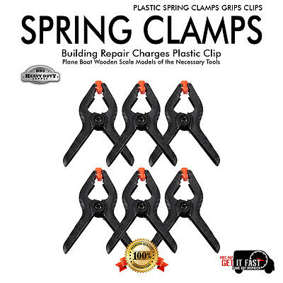 New Set of PLASTIC SPRING CLAMPS GRIPS CLIPS MARKET STALL MICRO SMALL