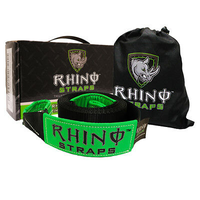 RHINO USA Recovery Tow Strap 30ft. - Lab Tested 31,518lb Break Strength - Hea...