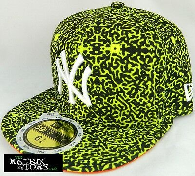 New Era Mlb Lava Crown Kids 59Fifty Fitted Cap - Ny Yankees - Cyber Green/black