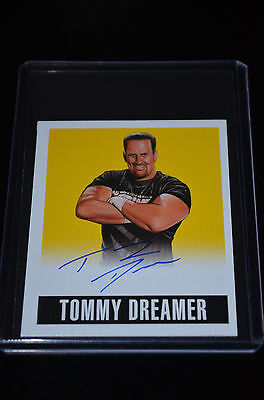 2014 Leaf Originals Wrestling Yellow Autograph Tommy Dreamer 74/99