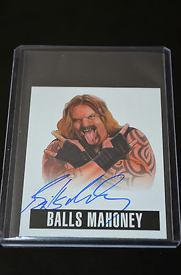 2014 Leaf Originals Wrestling Autograph Balls Mahoney