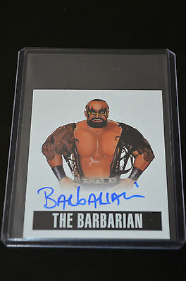2014 Leaf Originals Wrestling Autograph The Barbarian