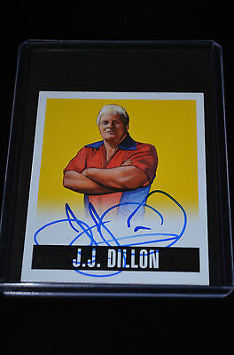 2014 Leaf Originals Wrestling Yellow Autograph J.J. Dillon 3/99