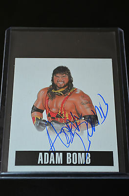 2014 Leaf Originals Wrestling Alternate Art Autograph Adam Bomb