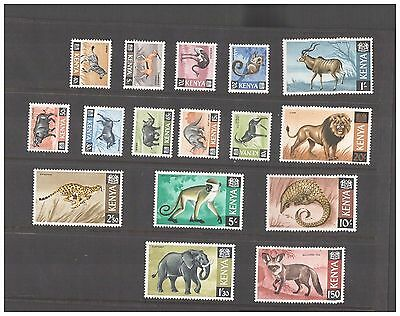 Kenya Stamps 1966/69 Wild Animals Fauna  MNH SG 20-35