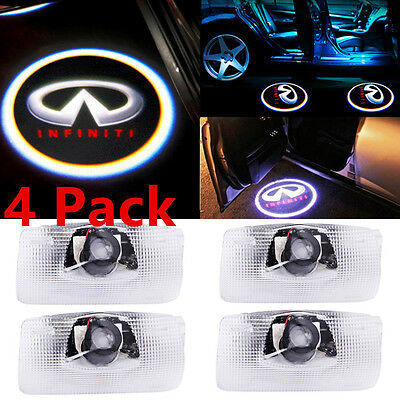 4PCS LED Logo Door Courtesy Light 3D Ghost Shadow Laser Projector for Infiniti