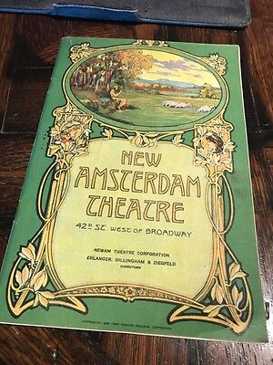 Antique 1926 New York City AMSTERDAM Theatre PROGRAM Broadway Theater Play NYC