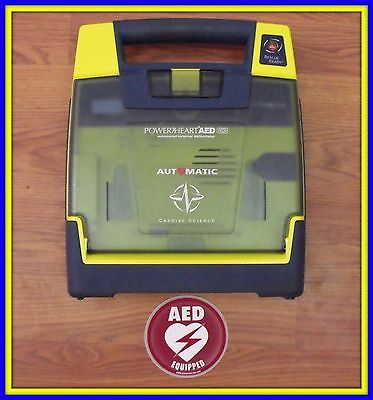 Cardiac Science Powerheart Just Re-certified G3 AED needs Pads & Battery 9300