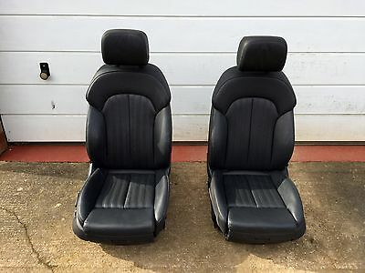 Audi A7 C7 Electric FRONT Memory S Line Leather Seats - Black