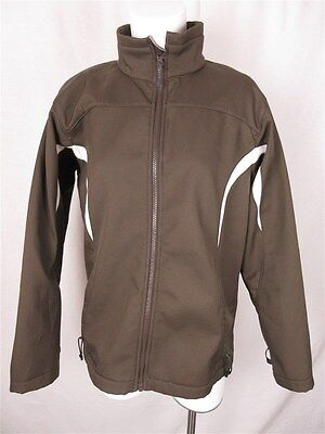 Columbia Women's sz L Brown White Polyester Interchangeable Zip Up Jacket