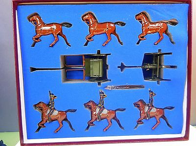 Britains Toy Soldiers Set 8825 Royal Horse Artillery Gun Team King's Troop
