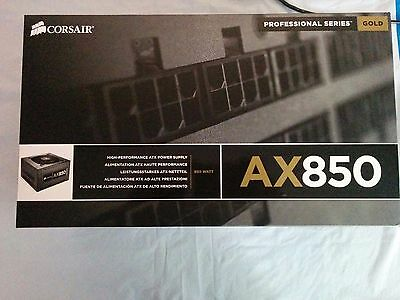 Corsair AX850 Power Supply PSU Professional Series 80 Gold 850W UPC 843591008099