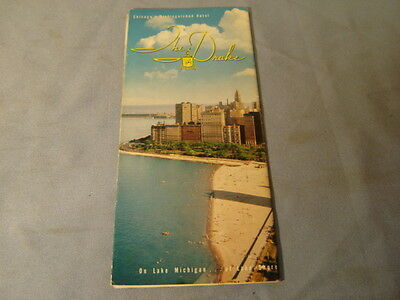 Vintage 50s 60s The Drake Hotel Chicago Illinois Travel Brochure