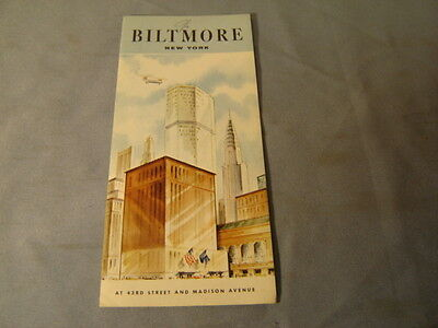Vintage 1950s 1960s The Biltmore New York Travel Brochure