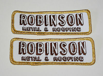 2 Vintage Robinson Metal & Roofing Patch New NOS 1980s Illinois