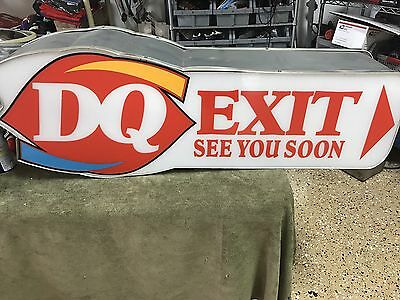 "DAIRY QUEEN Directional Sign 42""X15"""