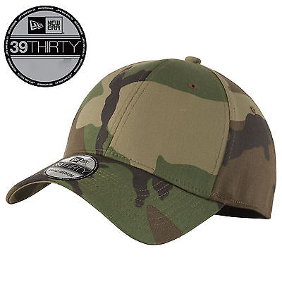 New Era 39Thirty Blank Stretch Cotton fitted CAMO Hat Cap NE1000 Free  Shipping e6e3ae26f478