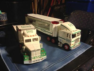 Two Toy Hess Trucks