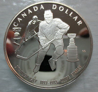 1993 Canada Proof Stanley Cup Silver Dollar Coin - A