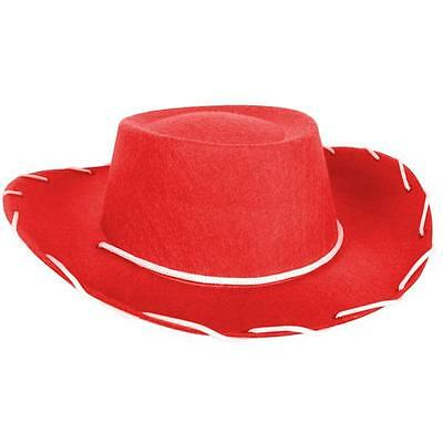 New  Red Feltex Child Cowboy/cowgirl Hat For Costume/fancy Dress Party