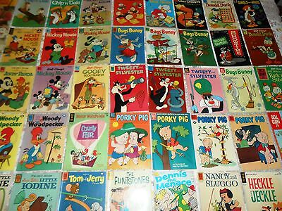 Lot of 45 Early 60's Dell Gold Key DC Comics Disney Warner Brothers