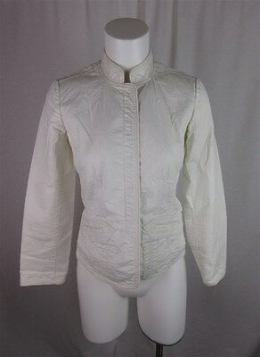 "Talbots Women's sz 2 Petite Cream ""Stretch"" Button Down Long Sleeve Jacket"