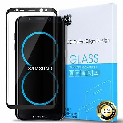 For Samsung Galaxy S8 S8 Plus Tempered Glass Screen Protector 3D Curved Edge