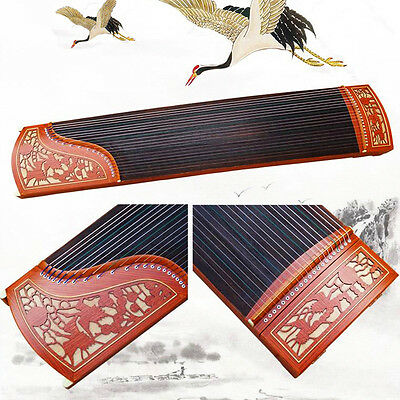 64.17 inch 21-Strings Guzheng, Chinese Zither Instrument, Duo Crane