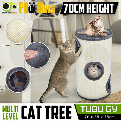 Cat Tree Scratching Post Scratcher Pole Gym House Furniture Multi Level 72cm GY