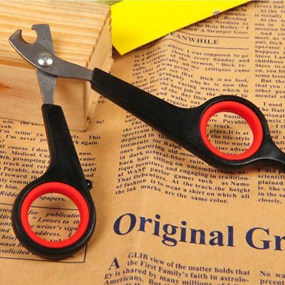 Trimmer Cleaner Cat Dog Pet  Nail Toe Claw Clippers Cutter Scissors