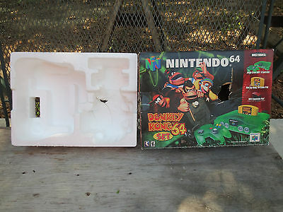 Nintendo 64 Donkey Kong N64 Jungle Green System Box ONLY NO CONSOLE