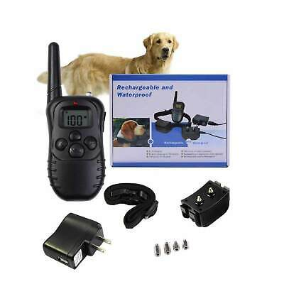 Dog Collar Stop Barking Rechargeable Waterproof Vibration Sound Remote Bark LCD