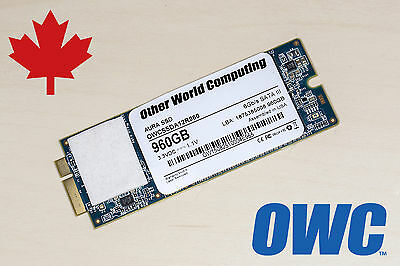 """OWC Aura 960GB SSD - For Apple MacBook Pro Mid 2012 to Early 2013 Retina 13"""" 15"""""""