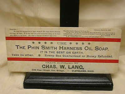 Vintage Ink Blotter The Phin Smith Harness Oil Soap