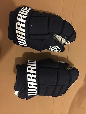 Warrior Pro Stock Hockey Gloves (NHL ) 14 Inch Florida Panthers Dark Blue