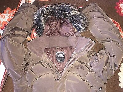 "The North Face "" DOWN 550 "" Women's  Hood Jacket Size XS"