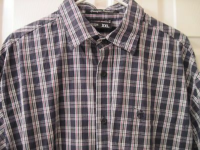 Southpole Size Xxl Long Sleeve Button Up Black, Red & White Plaid Shirt