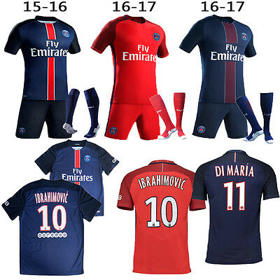 ON SALE Football Soccer Jersey Kit Child Short Kids Boy Club Suit+Socks 3-12Yrs