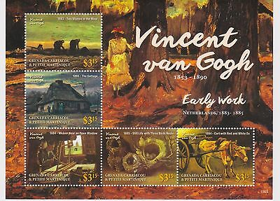Grenada Grenadines - Art, Vincent van Gogh 2015 - 1503 Sheetlet of 5 MNH