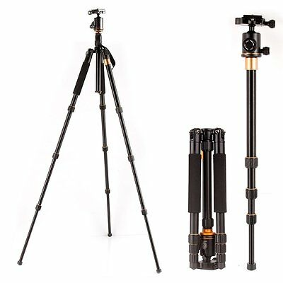 Q999S Portable Aluminum Tripod Monopod with Ball Head for DSLR Came