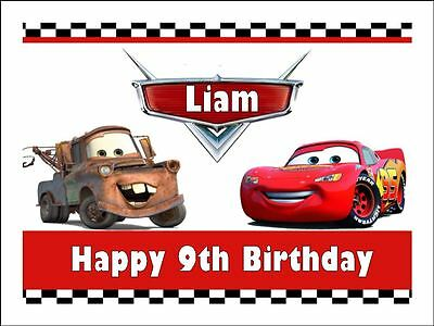 CARS LIGHTNING McQUEEN A4 (25.5cm x 19cm) EDIBLE ICING IMAGE CAKE TOPPER #5