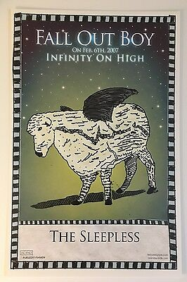 Fall Out Boy RARE PROMO ONLY poster # 4 of 5 Infinity On High The Sleepless