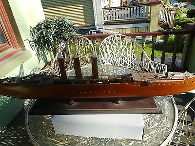 Model ship Circa 19 century hand made by masters craftsman with ivory inlay