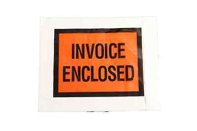 """Invoice Enclosed 4.5"""" x 5.5"""" Full Face Shipping Mailing Envelope 4000 Pieces"""