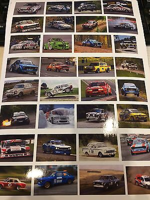 1/18 diorama OLD SKOOL FORD RALLY CAR showroom /garage posters  0038