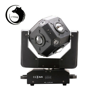 120W Cube 12*10W 4 in 1 RGBW LED Moving Rotate Head Stage Effect Light UK Plug