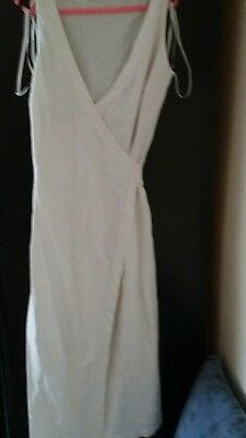 George ladies long white wrapover dress size 14