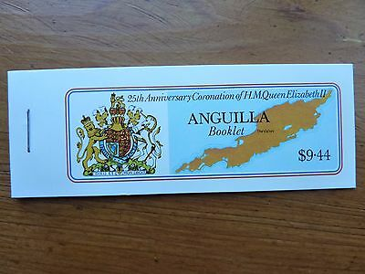 989]  -  ANGUILLA STAMPS  - BOOKLET  - 25th ANNI of QE 11 CORONATION 1978