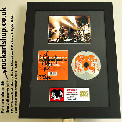 DEATH FROM ABOVE 1979 Romantic Rights SIGNED CD Autographed Framed *WORLD SHIP